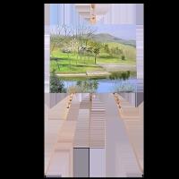 松木三角架素描画板画架套装可收缩折叠展架便携式写生实木油画架支架式
