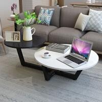 老睢坊 北欧茶几钢化玻璃简约现代客厅小户型轻奢欧式创意简易圆形小桌子卧室床边小茶桌