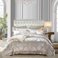 床上用品提花贡缎欧式被套全棉床上用品床单四件套