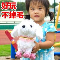儿童电动玩具狗会说话跳舞毛绒智能机器狗仿真泰迪狗语音指令操作
