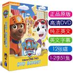 英文版PAW Patrol汪汪队立大功1-2季 英语字幕 车载光碟动画DVD