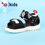 【1件2折后:59元】红蜻蜓夏季新款凉鞋防滑魔术贴潮可爱时尚露趾儿童女童凉鞋