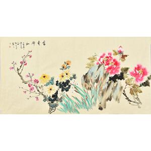 姜晓英四尺整张花鸟画gh02089