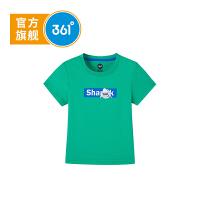 【折后叠券预估价:27】361儿童童装男童短袖T恤2021夏季新款儿童圆领衫男小童短袖针织衫