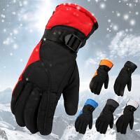 滑雪手套男冬季保暖手套户外防风防水加厚骑摩托车电动车棉手套男