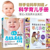 育儿书籍排行榜 0-1岁聪明宝宝左脑右脑大开发+美国金宝贝早教婴儿游戏全2册 0 3岁婴幼儿早教书籍 0 1岁婴幼儿早