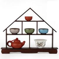 实木客厅装饰品摆件工艺品创意礼物 红木小博古架 鸡翅木质展示架