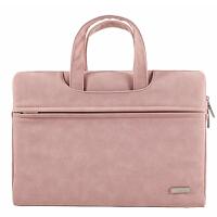 苹果笔记本好看的电脑包女15.6手提14寸macbook可爱小清新air13.3pro13mac粉色