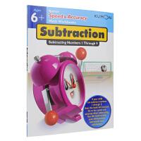 Kumon Speed & Accuracy Math Workbooks Subtraction Ages 6+ 公文