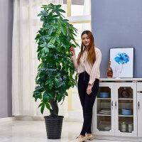 塑料树盆景发财树仿真植物盆栽绿植塑料假树大型客厅落地假盆景装饰室内花