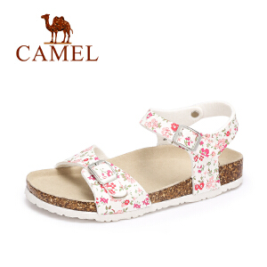 camel骆驼女鞋 夏季新款 休闲防滑平底凉鞋 舒适轻便沙滩鞋