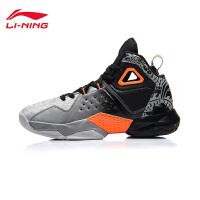 李宁篮球鞋男鞋封锁新款减震回弹耐磨防滑高帮春季运动鞋ABAM035