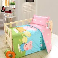 御目 儿童床品 全棉幼儿园被子三件套单件含芯六件纯棉小猪佩琪儿童床单被套罩枕芯枕套婴儿宝宝学生枕头床垫套家居床上用品