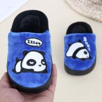 秋冬季新款儿童棉拖鞋卡通可爱熊猫男女童防滑保暖宝宝居家拖鞋