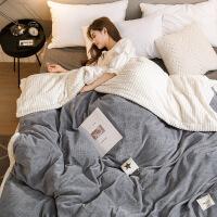 进口品质毛毯被子加厚双层珊瑚绒冬季保暖女法兰绒冬用小毯子床单人午睡毯W【】