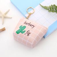 韩版创意仙人掌零钱包可爱简约果pu收纳包硬币包
