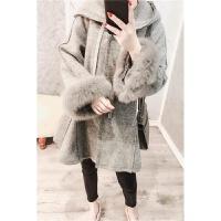 2018秋冬新款韩版加厚羊毛呢子大衣女中长款矮个子连帽毛呢小外套 预售20天发货 X