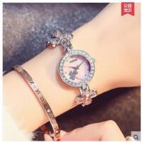 甜美清新四叶草手链表精美大方防水表学生韩版时尚腕表女生手表