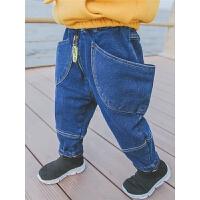 男童牛仔裤潮儿童裤子宝宝秋冬男小童长裤冬装保暖
