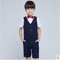韩版学生合唱服节日演出服儿童礼服男童西装马甲套装婚礼花童服