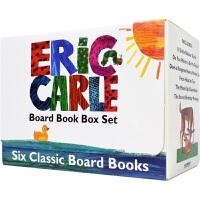 【现货】Eric Carle Six Classic Board Books 艾瑞・卡尔 经典英语故事纸板绘本6册 从头