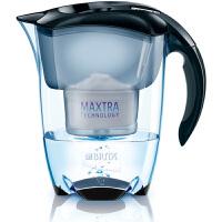 碧然德(BRITA)过滤净水器 家用滤水壶 净水壶 Elemaris 尊享系列 3.5L(黑色)阻垢款一壶一芯