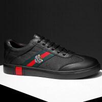 品牌欧洲站男鞋白色虎头休闲鞋皮鞋潮牌鞋子男板鞋布鞋男个性