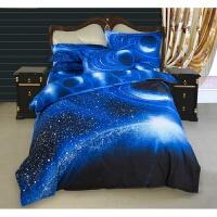 四件套1.2m1.5m1.8米�W生宿舍�稳舜采先�件套3D星空�棉被套床�� 3件套 被套1.5*2.1m床��1.6*2.3