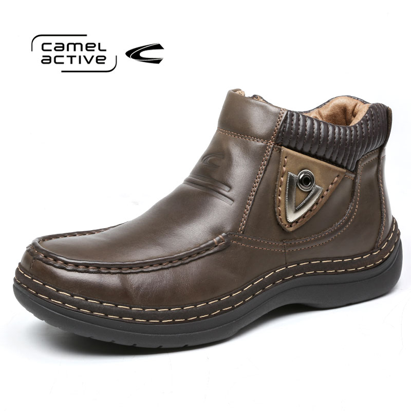 Camel Active/骆驼动感 冬款保暖英伦真皮男靴潮时尚皮靴潮男靴子