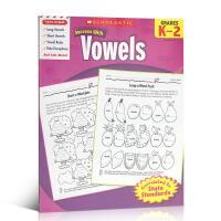 英文原版学乐成功系列练习册Scholastic Success with Vowels Grades K-2小学生课外