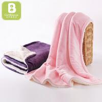 【两件包邮】卡伴新生婴儿毛毯双层加厚儿童盖毯小被子午睡空调毯80*100