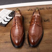 皮鞋男夏季新款厚底商务休闲正装皮鞋中青年男士绅士低帮增高潮鞋