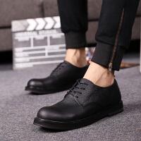 新款男鞋韩版内增高鞋百搭休闲鞋时尚大头鞋黑色低帮皮鞋青年潮鞋