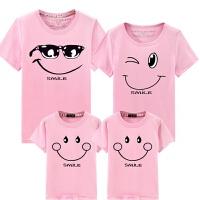 亲子装夏装短袖T恤一家三口四口春装全家装母女装幼儿园班服潮