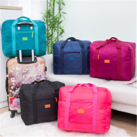 茉蒂菲莉 旅行包 韩版时尚大容量耐磨纯色手提旅行袋折叠行李收纳包