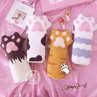 学生文具大容量收纳袋文具盒日系软萌可爱创意少女心猫爪造型笔袋