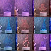 3D立体小夜灯生日礼物 卧室LED床头灯 小台灯 毕业创意小礼品多款