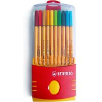 STABILO思笔乐 乐点88纤维水笔(0.4mm 20支装)学习办公用品8820 当当自营
