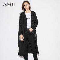 【3折到手价240元】Amii[极简主义]摩登 棉连帽外套 秋装新款长袖风衣女