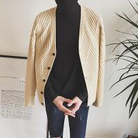 秋冬春秋季青少年毛衣修身型V领韩版开衫长袖休闲男士加厚针织衫