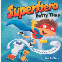 Superhero Potty Time[Boardbook]马桶超人(金色童书,卡板书)ISBN9780375872