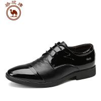 骆驼牌 秋款新品男鞋 低帮系带商务休闲皮鞋时尚休闲青年男士