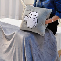 大白暖手抱枕被子两用三合一毯可拆洗插手捂公仔卡通毛绒玩具女生