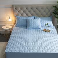 纯棉床笠全棉夹棉席梦思保护套加厚防滑薄床垫套1.8床罩 1.8x2.2m床 标准款