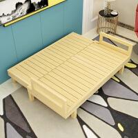 1.2米实木折叠床可沙发小户型飘窗榻榻米懒人躺椅靠背椅子两用沙发 1.8米-2米