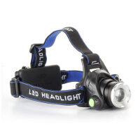 户外led头灯强光可充电变焦头戴式手电筒超亮夜钓捕鱼灯锂电矿灯