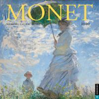 【现货】英文原版 莫奈2020年挂历 华盛顿国家美术馆出品 艺术日历 礼品周边 Monet 2020 Wall Cal
