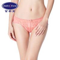 安莉芳女士内裤棉质底裆舒适性感透明蕾丝低腰三角裤E2W0040