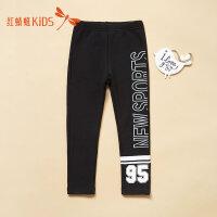 红蜻蜓童装韩版时尚休闲字母印花拼色男童休闲长款裤