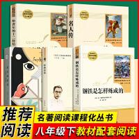 傅雷家书钢铁是怎样炼成的 名人传 给青年的十二封信 苏菲的世界 平凡的世界八年级下册必读的课外名著书籍语文全套6本